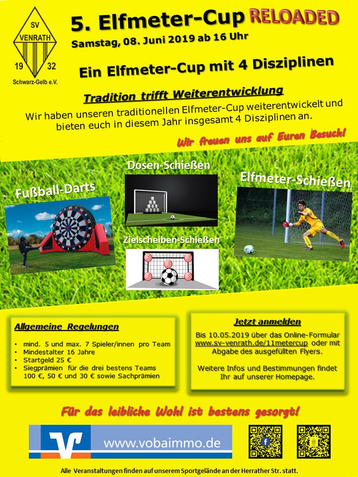 Plakat 5. Elfmeter-Cup RELOADED 2019