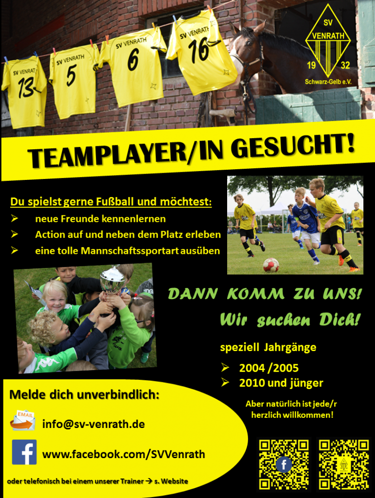 Plakat Teamplayer/in gesucht!